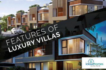 Features of Luxury Villas