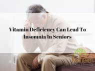 Vitamin Deficiency Can Lead To Insomnia In Seniors