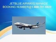 jetblue airways manage booking number | online