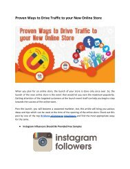 Proven Ways to Drive Traffic to your New Online Store