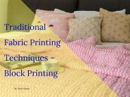 Traditional fabric printing techniques – Block printing