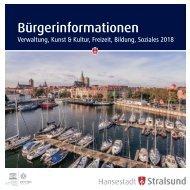 Hansestadt Stralsund - Bürgerinformation Verwaltung, Kunst & Kultur, Freizeit, Bildung, Soziales 2018