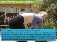 Hire independent Escorts in Chennai For Pleasure
