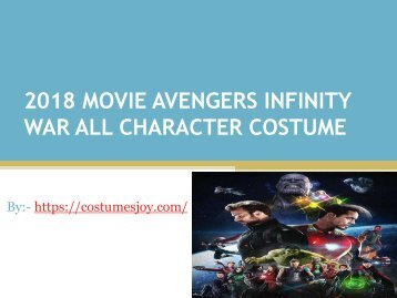 Buy Online cheap price Infinity war superhero costumes