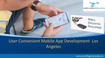 User Convenient Mobile App Development  Los Angeles