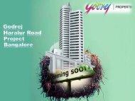 Godrej Haralur Road New Luxury  Apartment Bangalore