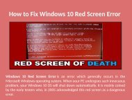1-888-909-0535 Step to Fix Windows 10 Red Screen Error
