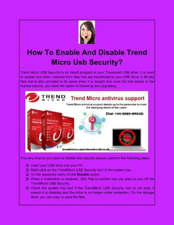 How To Enable And Disable Trend Micro Usb Security?
