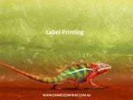 Label Printing - Chameleon Print Group