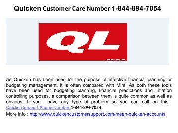 Quicken Error CC 501 Number 1-844-894-7054