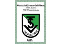 TSV Festschrift 2003 und Vereinsgeschichte