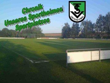 Chronik Sportheim/Sportplatz
