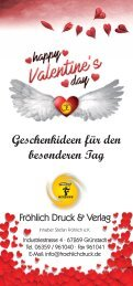 Valentinsgeschenkideen Fröhlich Druck und Verlag GrünstadtStefan Fröhlich e.K.