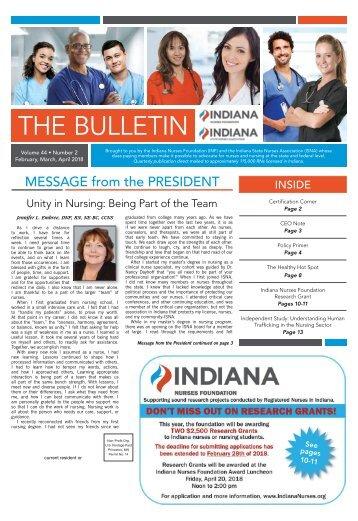 Indiana Bulletin - February 2018