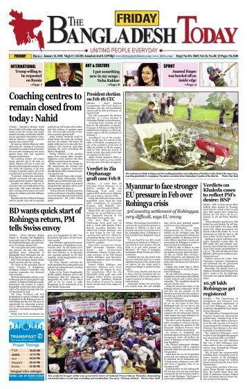 The Bangladesh Today (26-01-2018)