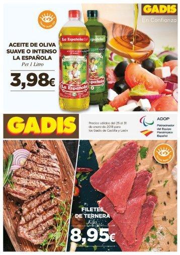 GADIS de Castilla y León ofertas del 25 al 31 de enero 2018