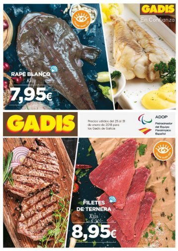 GADIS de Galicia ofertas del 25 al 31 de enero 2018