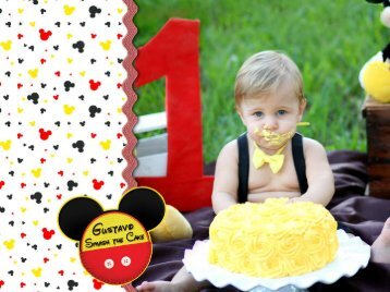 Gustavo - 1 ano - Smash the Cake