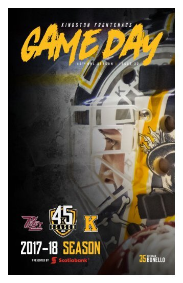 Kingston Frontenacs GameDay January 28, 2018