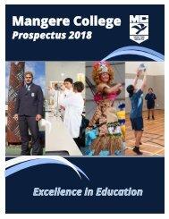Mangere College Prospectus 2018