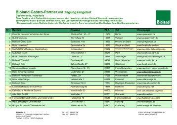 Bioland Gastro-Partner mit Tagungsangebot