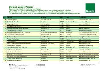 Bioland Gastro-Partner