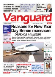 26012018 - Reasons for New Year Day Benue massacre —DEFENCE MINISTER