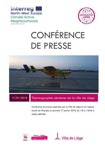 Dossier pour la presse - Thermographie aérienne de Liège