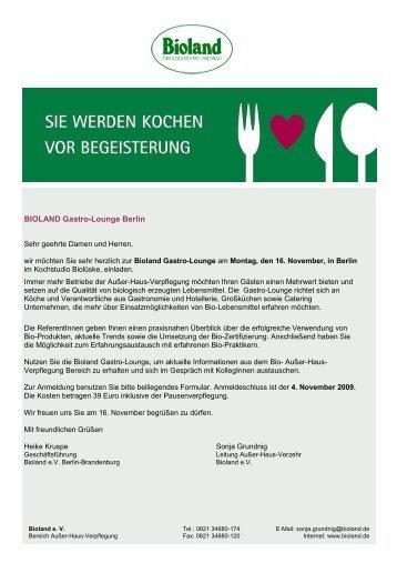 Anmeldung Bioland-Gastro-Lounge Berlin