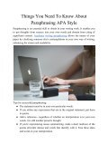 Things You Need to Know About Paraphrasing APA Style - Page 2