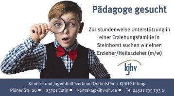 Pädagoge in Steinhorst gesucht