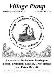 Berrington Village Pump Edition 134  (Feb - Mar18)