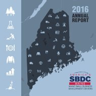 2016 Maine SBDC Annual Report