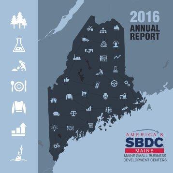 2016 Maine SBDC Annual Report