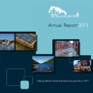 2013 Maine SBDC Annual Report