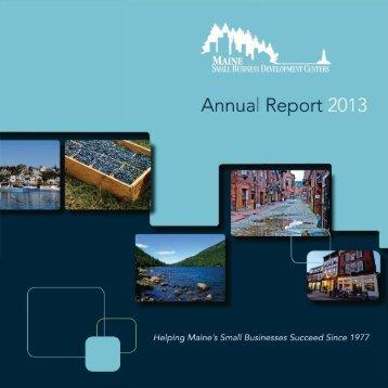 2013 Maine SBDC Annual Report