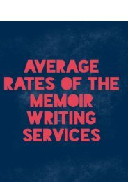 Average Rates of the Memoir Writing Services