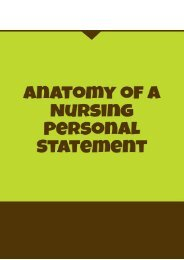 Anatomy of a Nursing Personal Statement
