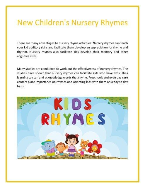New Children 039 S Nursery Rhymes