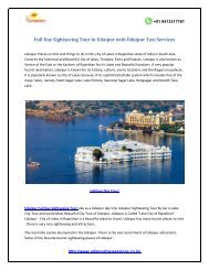 Full Day Sightseeing Tour in Udaipur with Udaipur Taxi Services