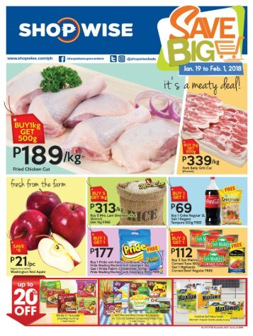 SHOPWISE GROCERY CATALOG SAVE BIG ends February 1, 2018