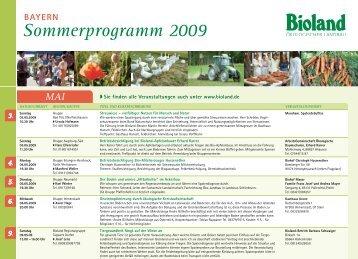 Bayern Sommerprogramm 2009 Juni - Bioland
