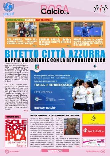 Magazine CalcioinRosa Speciale Nazionale