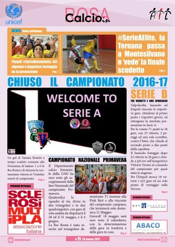 Magazine CalcioinRosa N°15