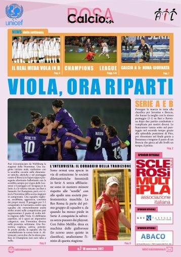 Calcioinrosa Magazine n.7 stagione 2017 18