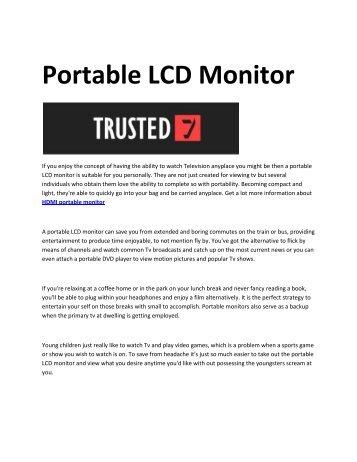 6 best portable monitors