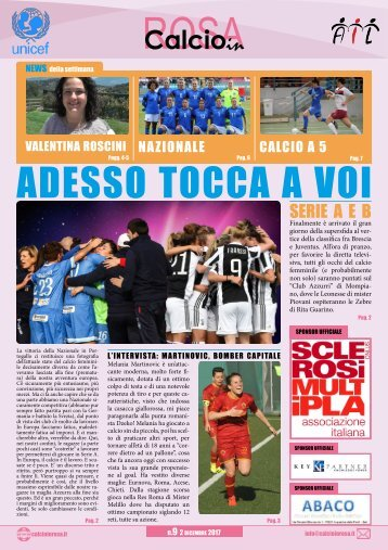 Calcioinrosa Magazine n.9 2017 18