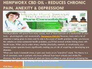 Hempworx Cbd Oil - Reduces Blood Sugar Levels & Inflammation