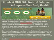Grade A CBD Oil - An Active Formula To Avoid Depression!