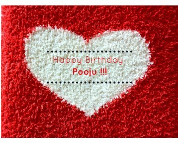 Happy Birthday Pooju !!! FINAL